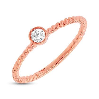 Bezel Set Diamond Ring - Rose