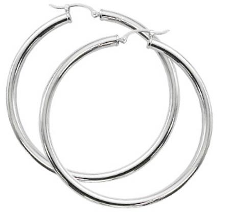 """Sterling Silver 2"""" Hoop Earring"""