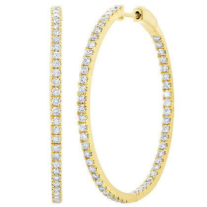 1.71ct Diamond Hoop Earring