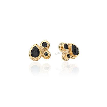 Hypersthene Cluster Stud Earring