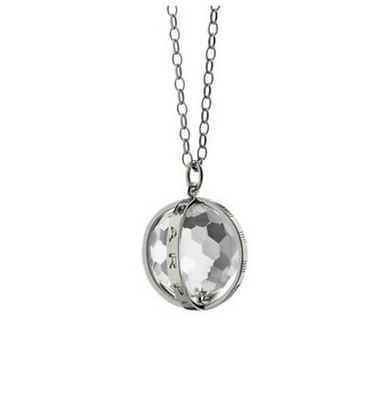 """Carpe Diem"" Necklace In Silver - Large"