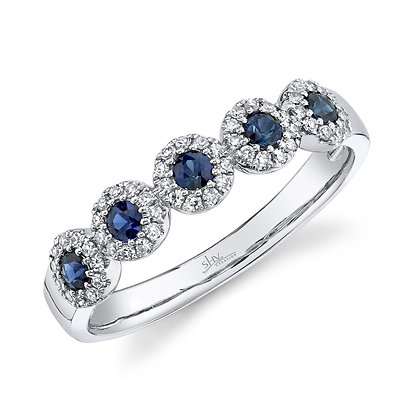 "Sapphire and Diamond ""Eden"" Ring"