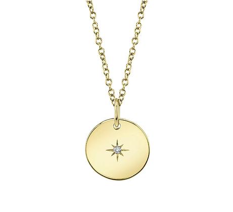 Star-Set Disc Necklace