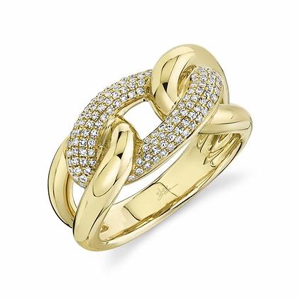 Diamond Pavé Link Ring