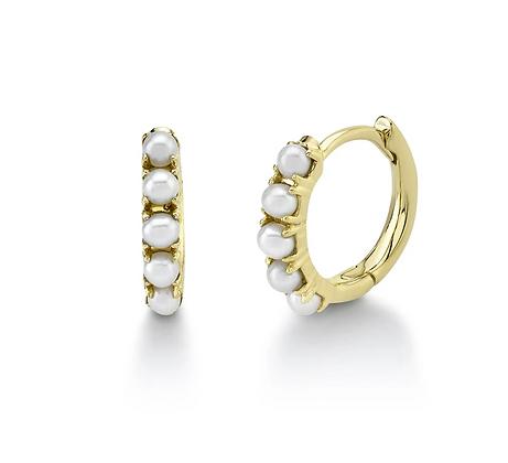 Pearl Huggie Earring