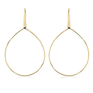 Wide Pear Shape Drop Earring