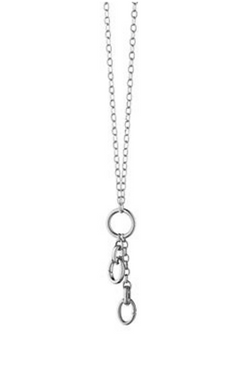 "30"" ""Design Your Own"" Small Link Charm Chain Necklace, 3 Charm Stations"