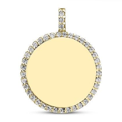 Diamond Disc Pendant - As Seen On Bethenny Frankel