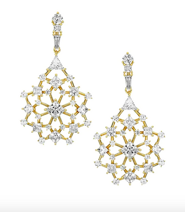 Cluster Lace Drop Earring