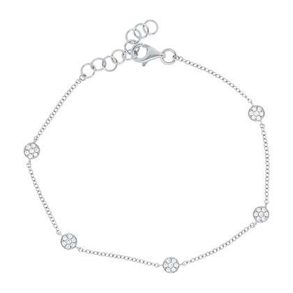 Diamond Pavé 5 Circle Bracelet