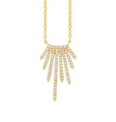 Radiating Diamond Necklace