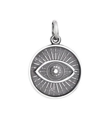 Oxidized Evil Eye Charm - Small