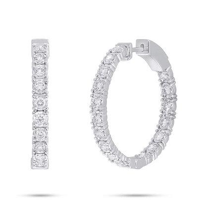 1.06ct Diamond Hoop Earrings