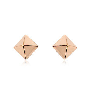 Pyramind Stud Earring (Rose)