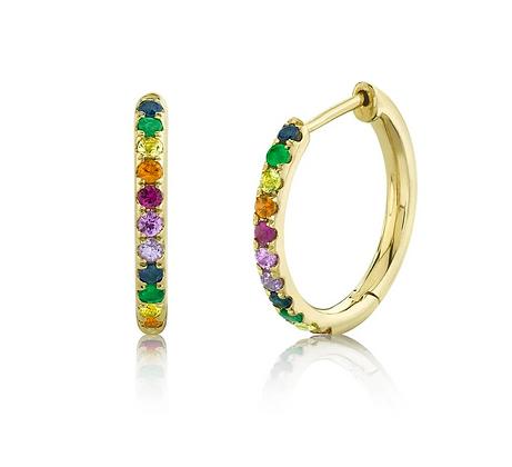 Rainbow Huggie Earring