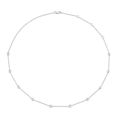 0.54ct Diamonds By The Yard Necklace - White