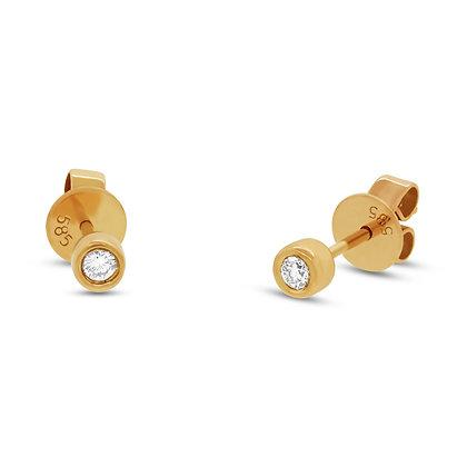 Round Diamond Stud Earring