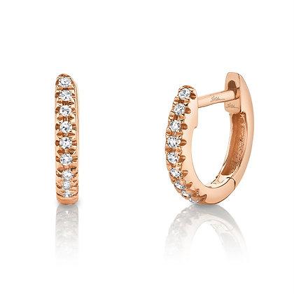 0.04ct Diamond Huggie Earring