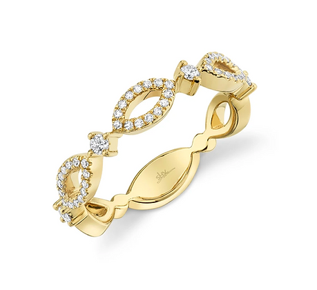 Marquise Motif Link Ring