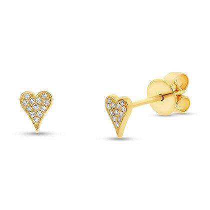 Pavé Heart Stud Earring