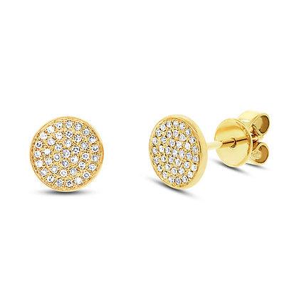 Pavé Diamond Stud Earring