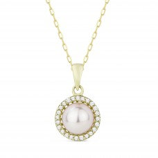 Pearl & Diamond Necklace