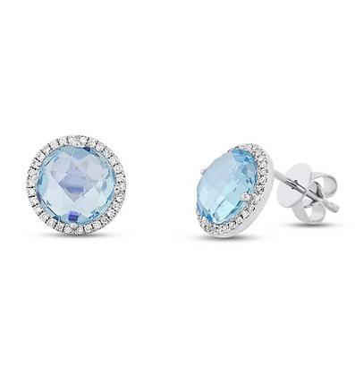 Blue Topaz Stud Earring