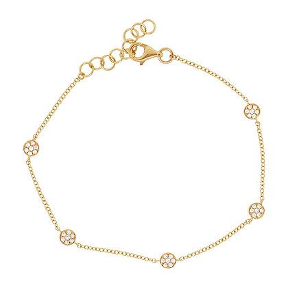 Diamond Pavé 5 Circle Bracelet