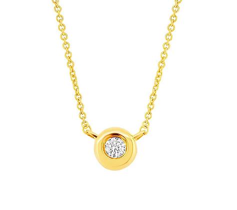 0.03ct Diamond Bezel Set Necklace