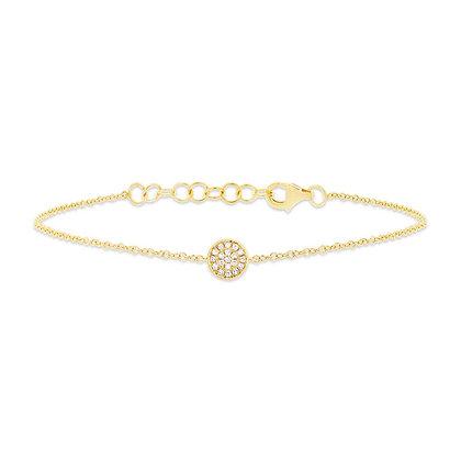 Diamond Pavé Circle Bracelet