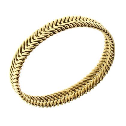 Armillas Grain Spike Yellow Gold Bracelet