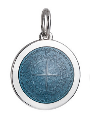 Medium Compass Rose Pendant - Gray
