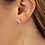 Thumbnail: Yellow Gold Paperclip Drop Earring