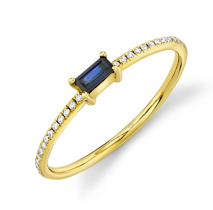 Baguette Sapphire Stack Band - Yellow