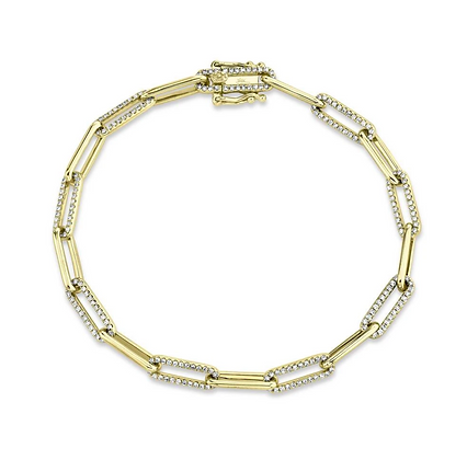 Diamond Paperclip Bracelet
