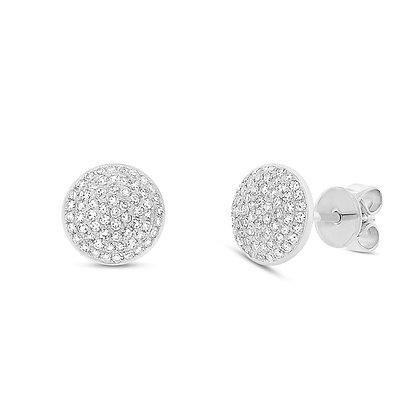 Diamond Pavé Circle Stud Earring