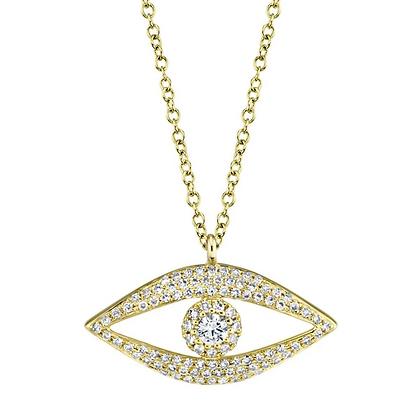 Eden Diamond Evil Eye Necklace