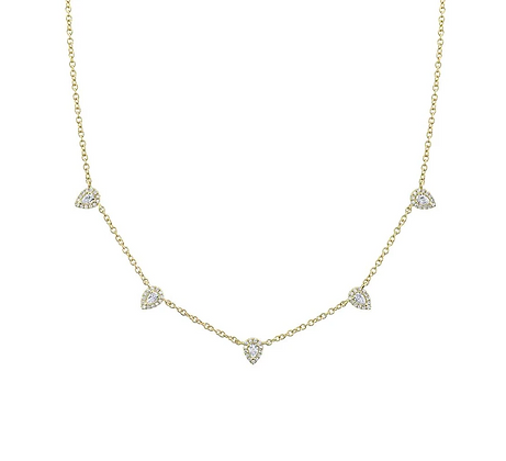 Pear Station Necklace