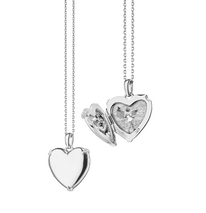 Heart Locket With White Sapphires