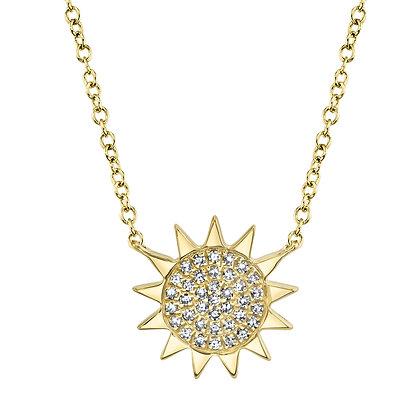 Diamond Pavé Sun Necklace