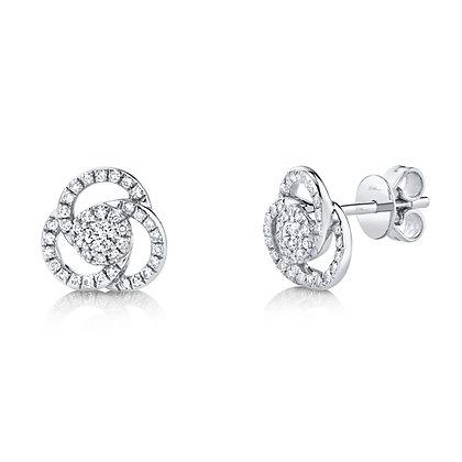 Diamond Love Knot Earring
