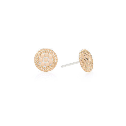 Circle Stud Earring - Gold