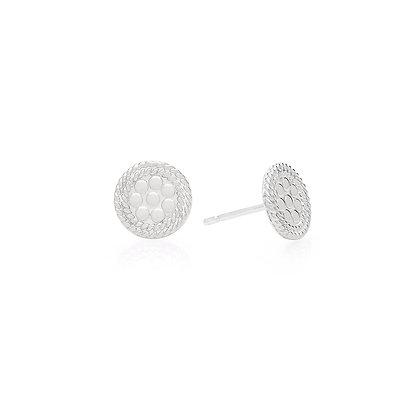 Mini Circle Stud Earring - Gold