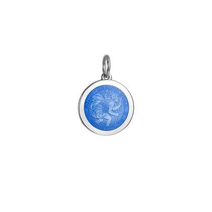 Small Saint Christopher Pendant - Royal Blue