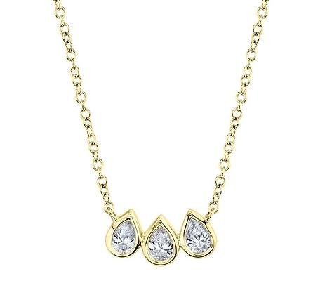 Diamond Pear Necklace - Yellow