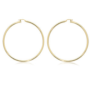 "2.5"" Hoop Earring - Yellow Gold"