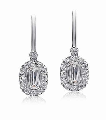 L'Amour Crisscut Diamond Earrings