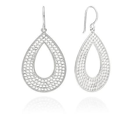 Large Open Drop Earring - Silver