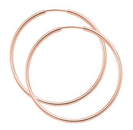 """1.5"""" Rose Gold Endless Hoop Earring"""
