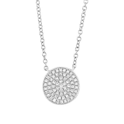 Diamond Pavé Circle Pendant (Small)